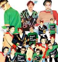 EXO CBX PNG Pack {Hey Mama!} by kamjong-kai