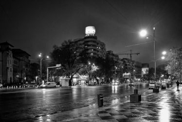 Bucharest my hometown - rainy night avenue by Rikitza
