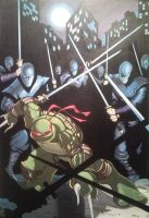 Raph vs The Foot by Spidey0107