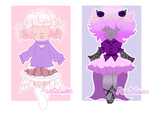 Reduced Setprice  Sapphire Adoptables  2 6 Open  B by pastelaine-art