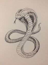 Inktober Day 23 - Cobra by OniRuu