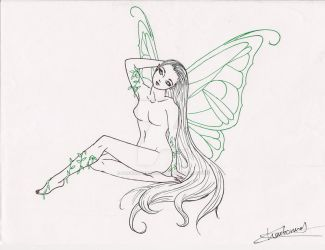 Butterfly Fairy by PassionForDrawing