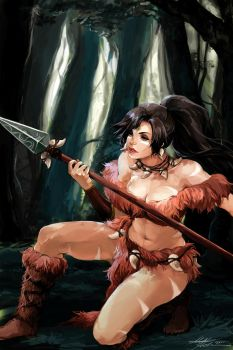 LoL: Nidalee by betrayal-and-wisdom