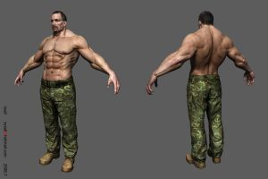 Muscle Male texture by nyall