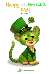 Daily Paint #1213. Leoparchaun (I tried...) by Cryptid-Creations
