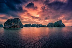 Sunrise over Halong Bay, Vietnam by Stefan-Becker