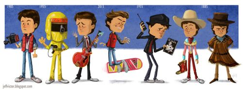 The Evolution of Marty McFly by JeffVictor