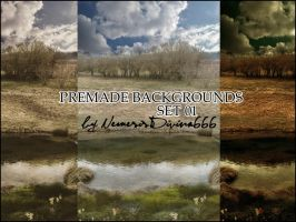 Premade Backgrounds - Set 01 by NemesisDivina666