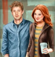 Rory and Amy FOREVAH by arelia-dawn