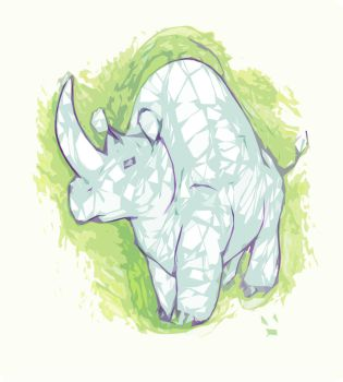 Abstract Rhino by PlaidRed