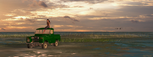 Muddy Land Rover by danmoore