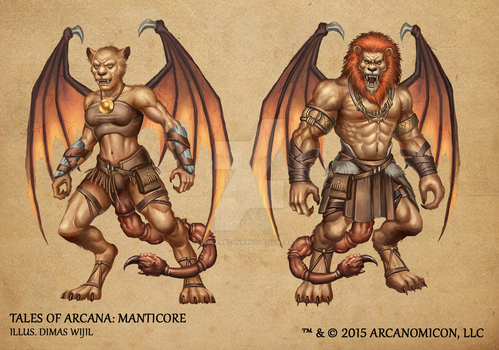 Tales of Arcana 1st Set - Manticore by TalesofArcanaRPG