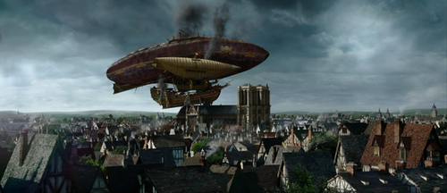 Uh, I Think Our Airship Got Stuck On a Church by corthan73
