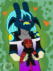 Aguwa loves Hellboy by DtheCadeyra