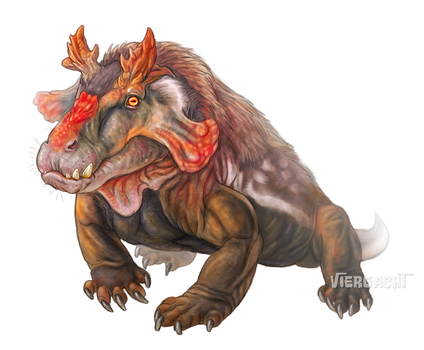 Rudolph the Red-Nosed Estemmenosuchus by Viergacht