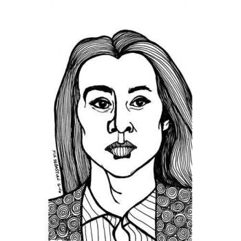 Pen and Ink Portrait by NikSebastian