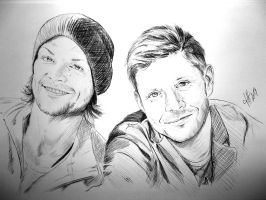 Jensen and Jared by JH-creator