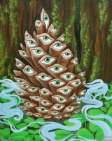 Pineal Pinecone by JulieBeloussow