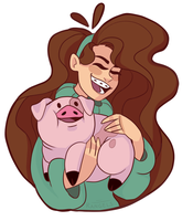 Mabel and Waddles by Rangels