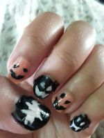 Halloween Nail Art by Revenir-Ghoul