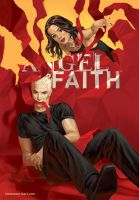 Angel and Faith cover, issue 20 by StevenJamesMorris