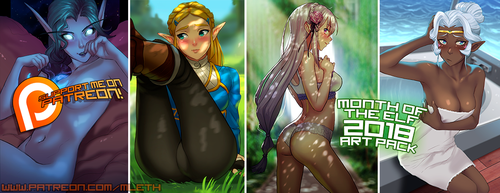 March Patreon 2018 Month of the Elf Art Pack! by MLeth