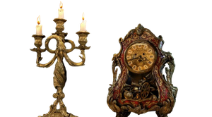 Disney's Lumiere and Cogsworth - Transparent! by Camo-Flauge