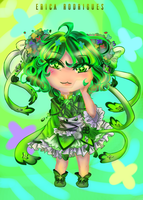 [+ Video] Green Chibi by Rica-Sensei
