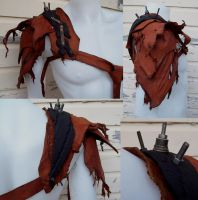 Shredded Leather Pauldron by Xavietta