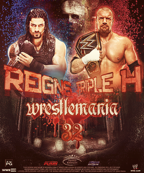 WrestleMania 32 ~ Poster by MhMd-Batista