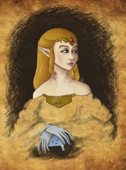 princess zelda's abandoned portrait by YerBlues99