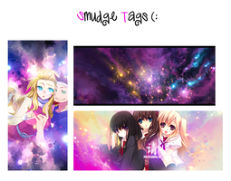 Smudge tags by Z-ChanHeart