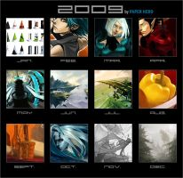 Art Summary 2009 by paper-hero