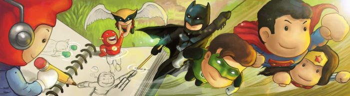 Justice League on the Move by Exubiuz