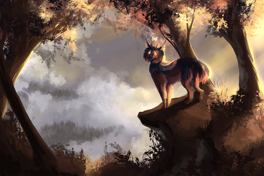 Misty Sunrise - Completed YCH by Behlair