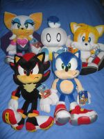 SA2 Plushies Complete Set by sonicrules100