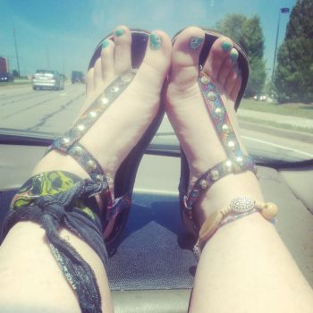 Feet and Car Rides by Lily-Lithium