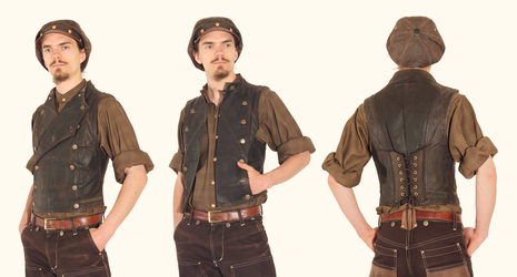 Waxed Journeymans Vest by Marcusstratus