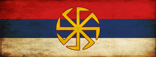 Serbian Slavic flag FB cover by mmirkovic