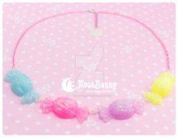 Candies rainbow Necklace by CuteMoonbunny
