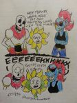 How To Annoy Flowey ft. Papyrus and Undyne by Revenir-Ghoul