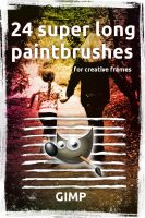 24 superlong paintbrushes for GIMP by Chrisdesign