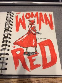 The Woman In Red  by PTR-Trick