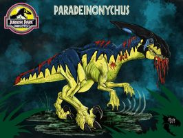 Jurassic Park Chaos Effect: Paradeinonychus by WretchedSpawn2012