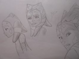 The evolution of Ahsoka/ by PadawanAhsokaTano by N-Y-N-A