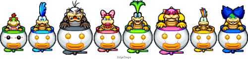 Clown Car Koopalings ML:BIS by RidgeTroopa