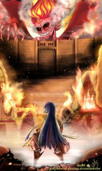 Attack On Sunset by Daughter-of-Fantasy