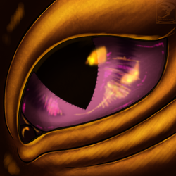 Eye-Con Comish - Orange Aura by TwilightSaint
