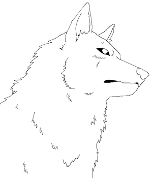 Wolf lineart 9 by lineart4you