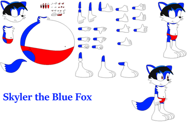 Character Builder - Skyler the Blue Fox by FoxPrinceAgain